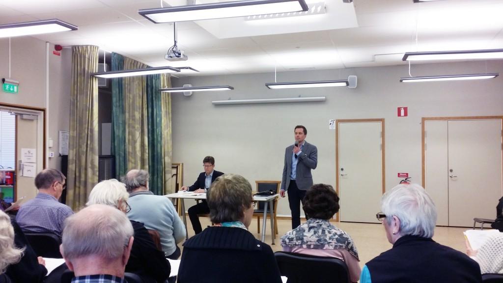 Pontus Gunnarsson och Johan Lannefors från MBF höll i stämman precis som förra året, med skillnaden att Lannefors denna gång höll i ordförandeklubban.
